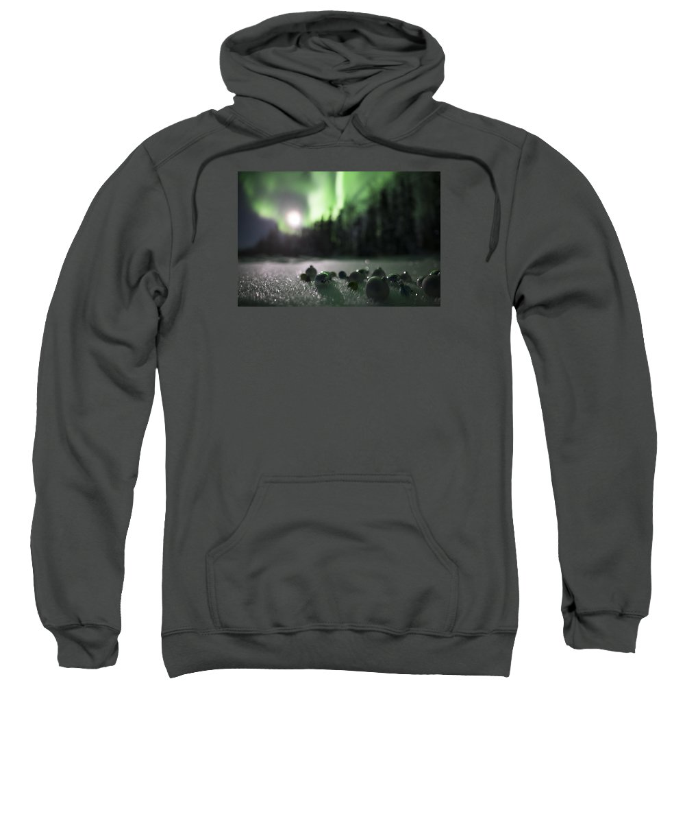 Sweatshirt featuring the photograph Christmas Moon by Ian Johnson