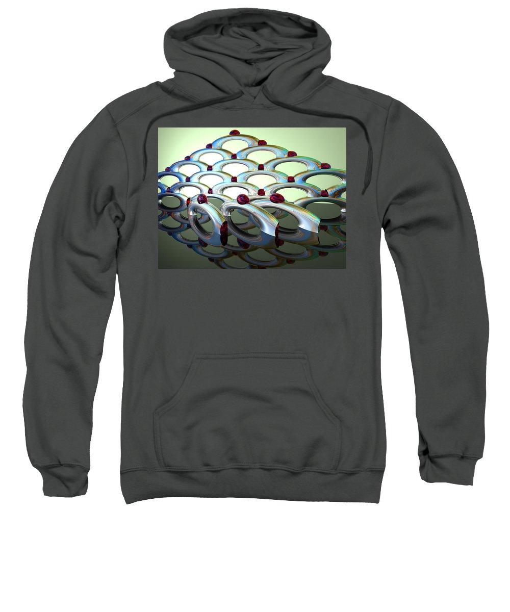 Scott Piers Sweatshirt featuring the painting Chrome Sundae by Scott Piers