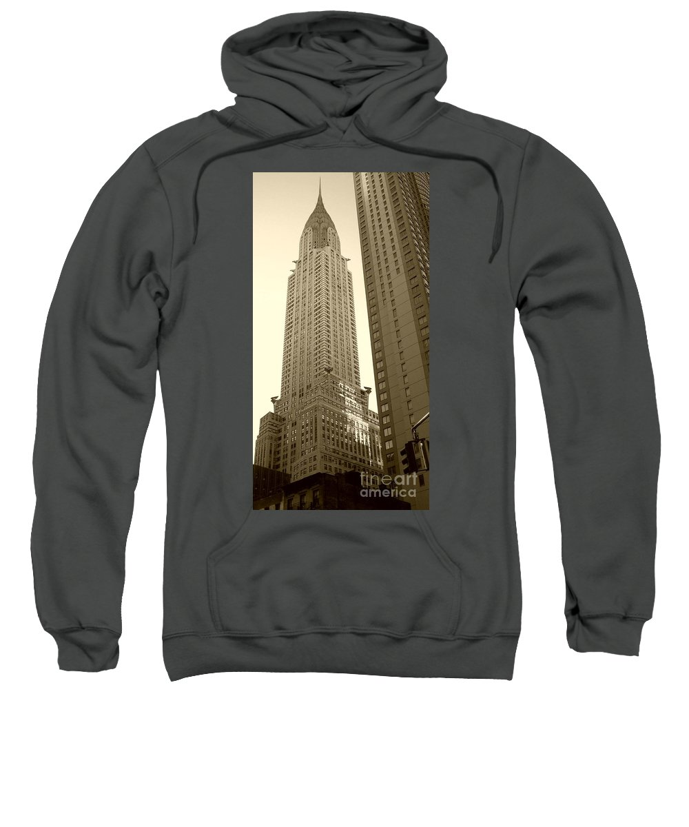 New York Sweatshirt featuring the photograph Chrysler Building by Debbi Granruth