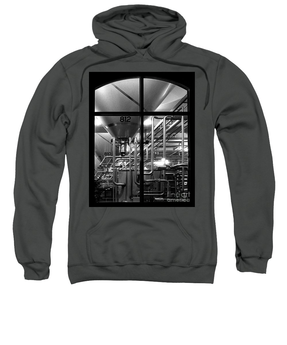 Black And White Sweatshirt featuring the photograph Church Of Modern Man by Peter Piatt