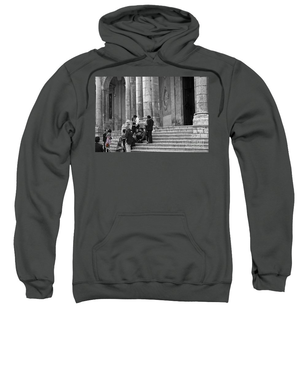 Church Sweatshirt featuring the photograph Church Step Lovers by Madeline Ellis