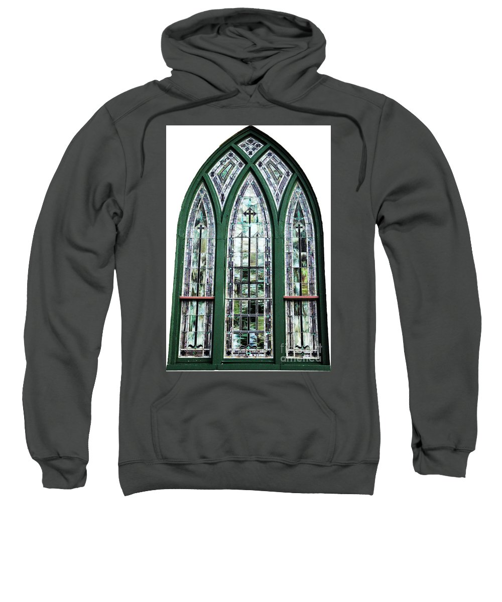 Window Sweatshirt featuring the photograph Church Window by Amanda Barcon