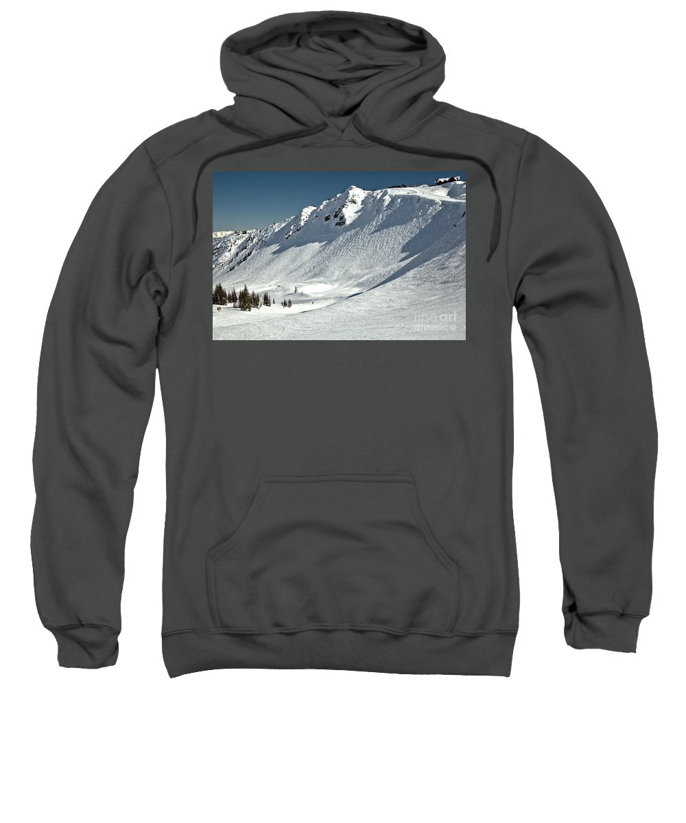Sweatshirt featuring the photograph Chutes Below Eagle's Eye by Adam Jewell