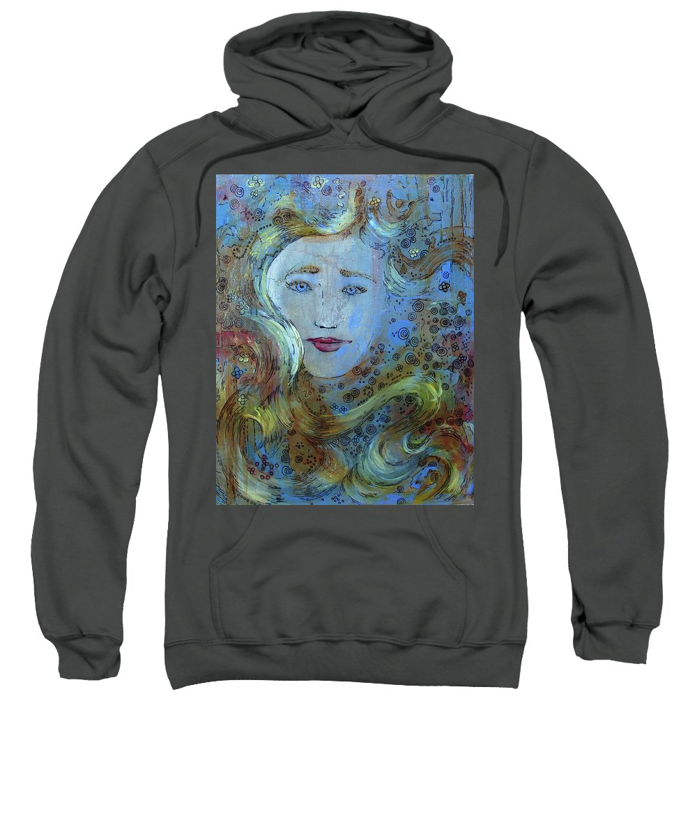 Circe Sweatshirt featuring the mixed media Circe by Jennifer Kelly