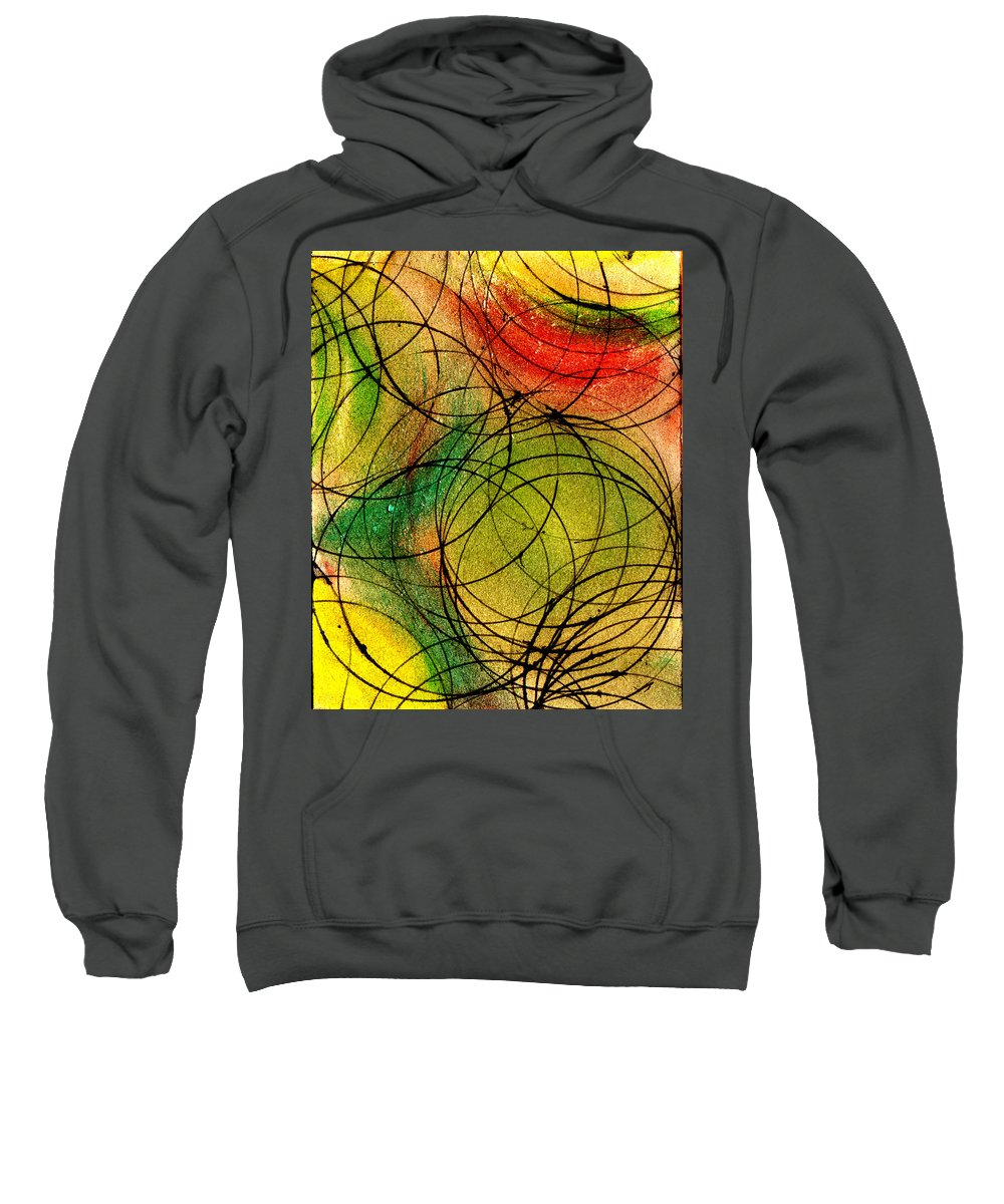 Abstract Sweatshirt featuring the painting Circles by Wayne Potrafka