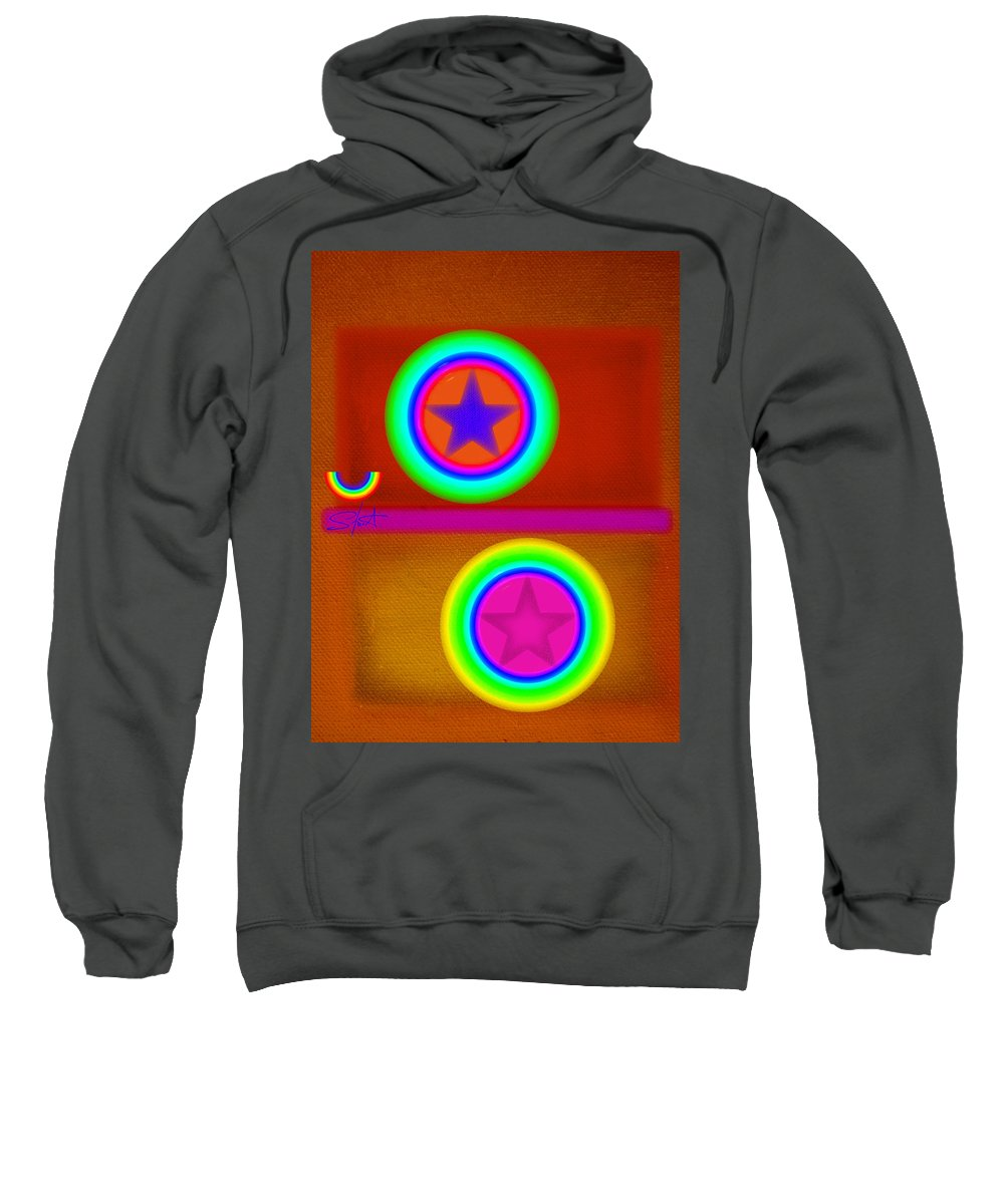 Balance Sweatshirt featuring the painting Circus Balls by Charles Stuart