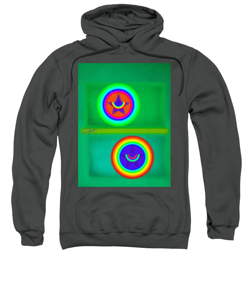 Balance Sweatshirt featuring the painting Circus Costume by Charles Stuart