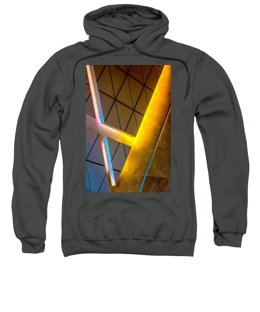Sweatshirt featuring the photograph Citadel Center Dearborn And Adams Dsc5940 by Raymond Kunst