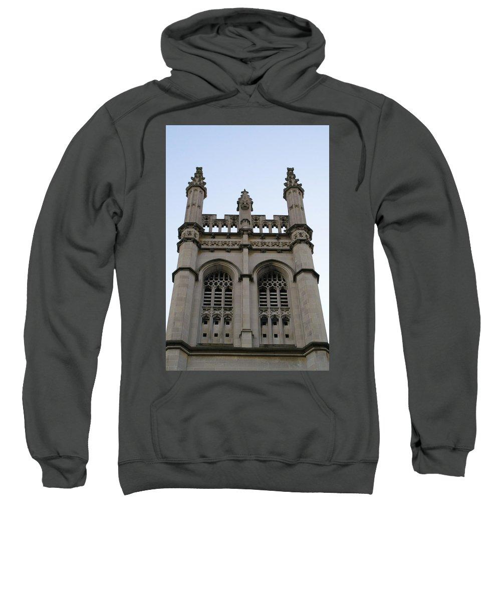 Church Sweatshirt featuring the photograph City Church Tower by Henri Irizarri