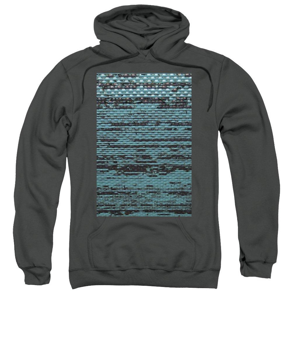 Grid Sweatshirt featuring the photograph City Metal Grid by Henri Irizarri
