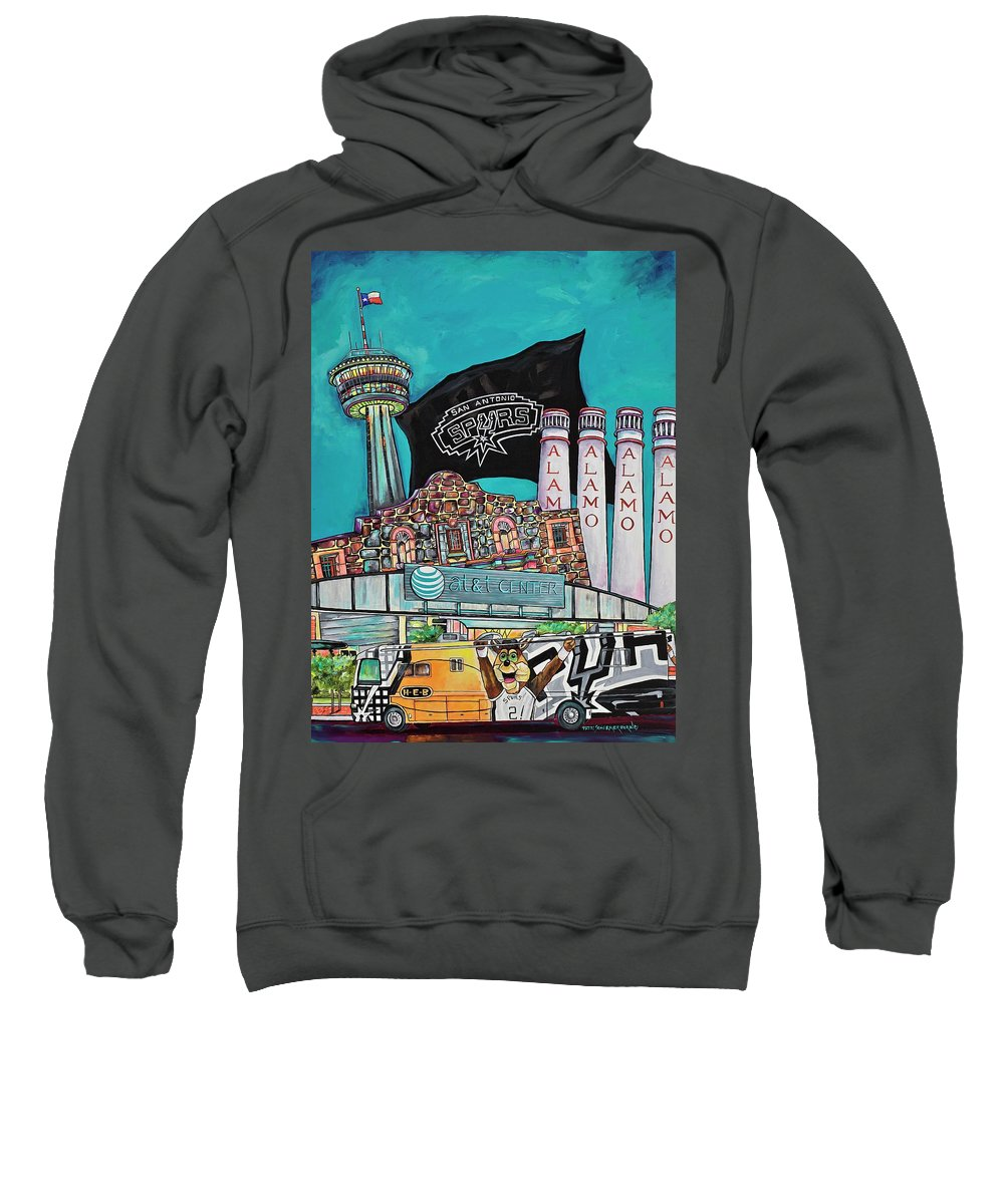 San Antonio Spurs Sweatshirt featuring the painting City Spirit by Patti Schermerhorn