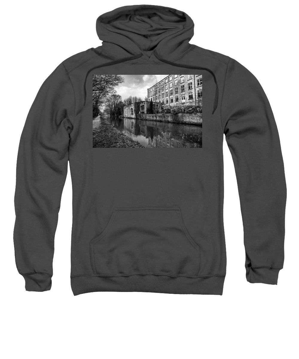 Reflections Sweatshirt featuring the photograph Clarence Mill, Bollington, England by Mickey Stellavato