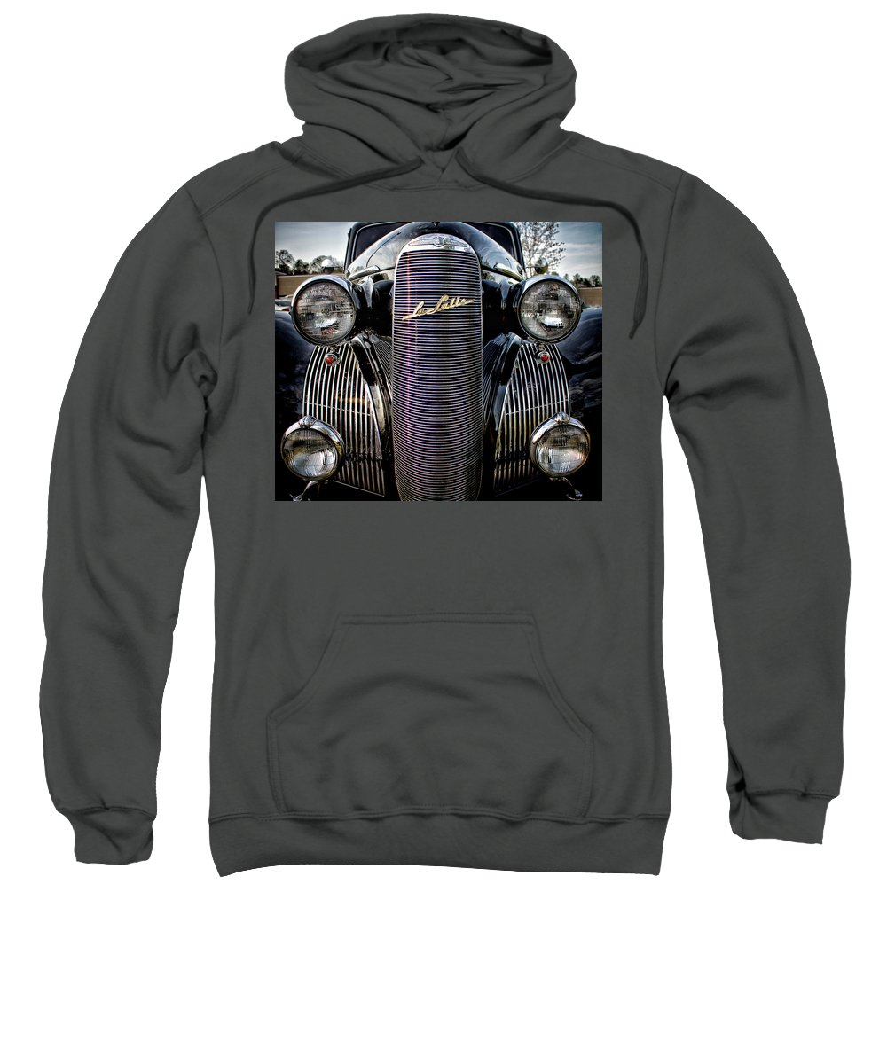 1938 Sweatshirt featuring the photograph Classic Lasalle by Mark Chandler
