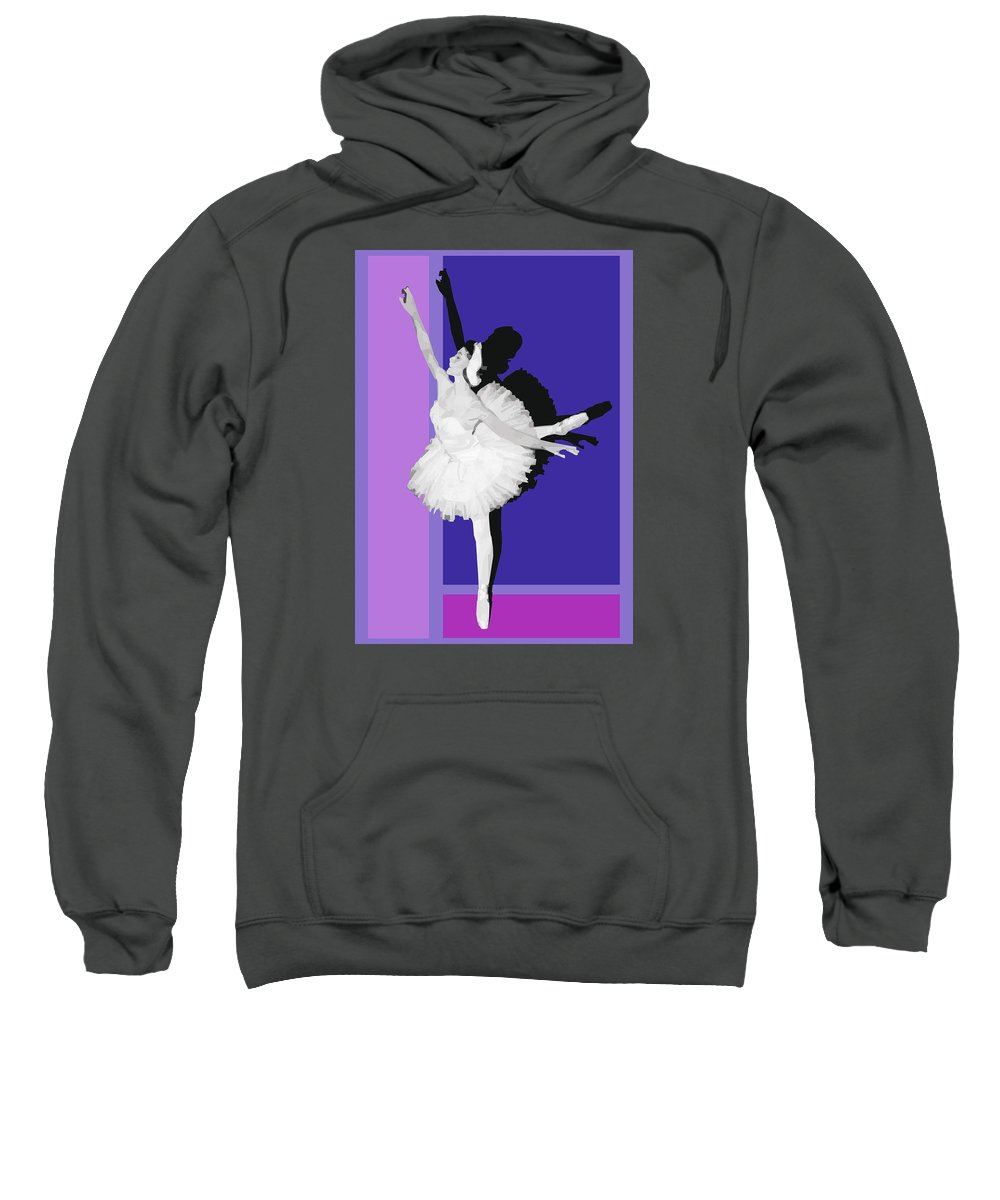 Classical Sweatshirt featuring the digital art Classical Ballet by Joaquin Abella