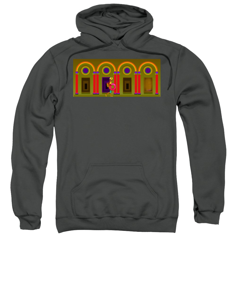 Classical Sweatshirt featuring the painting Classical Fall by Charles Stuart