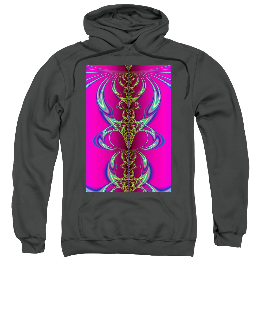 Abstract Sweatshirt featuring the digital art Claws by Frederic Durville