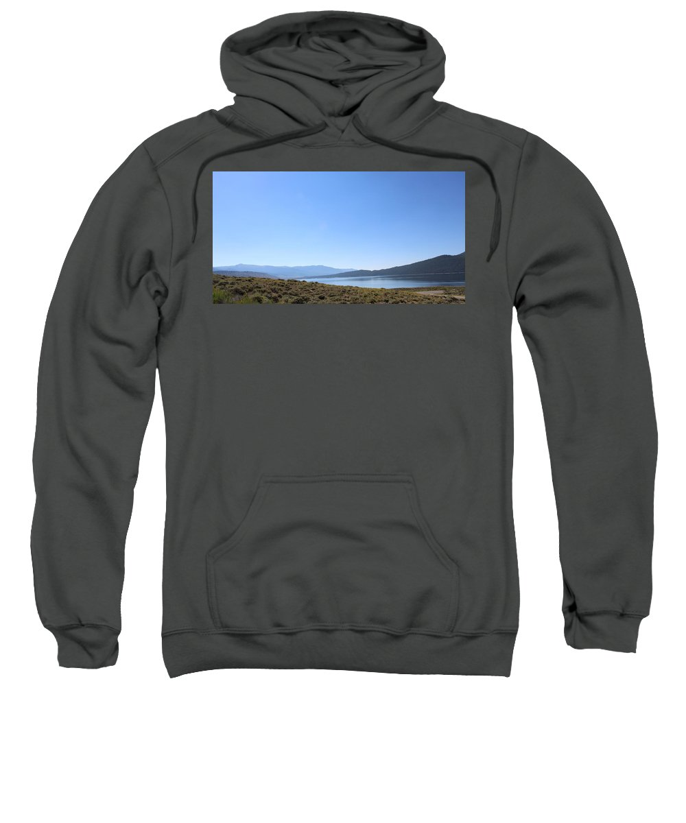 Colorado Sweatshirt featuring the photograph Clear Blue Skies Over Turquoise Lake Waters by Weathered Wood