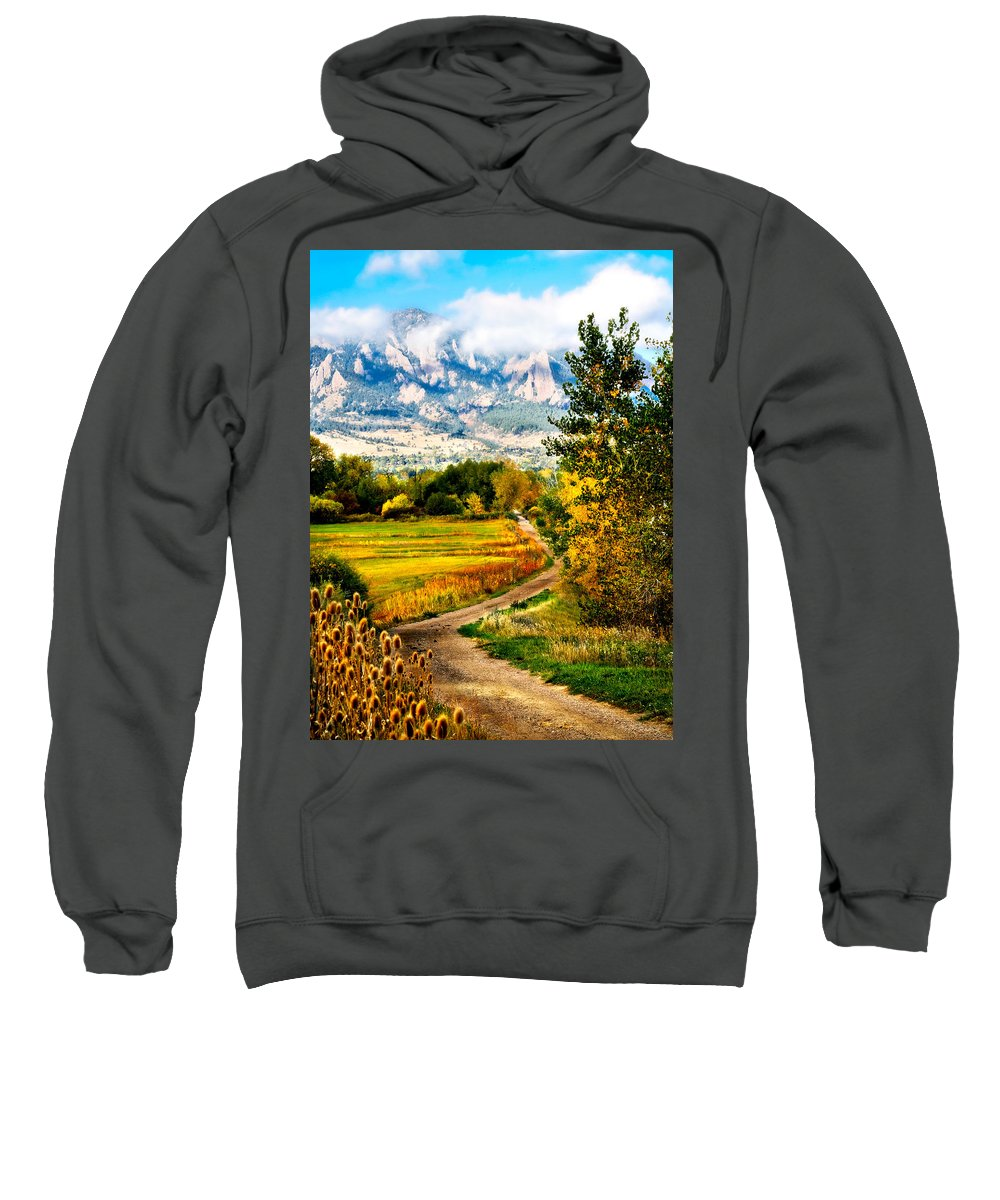 Americana Sweatshirt featuring the photograph Clearly Colorado by Marilyn Hunt