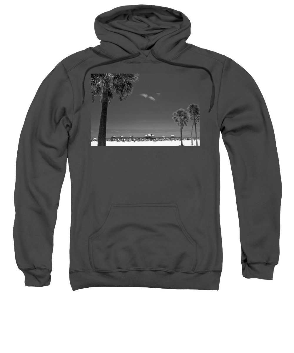 3scape Sweatshirt featuring the photograph Clearwater Beach Bw by Adam Romanowicz