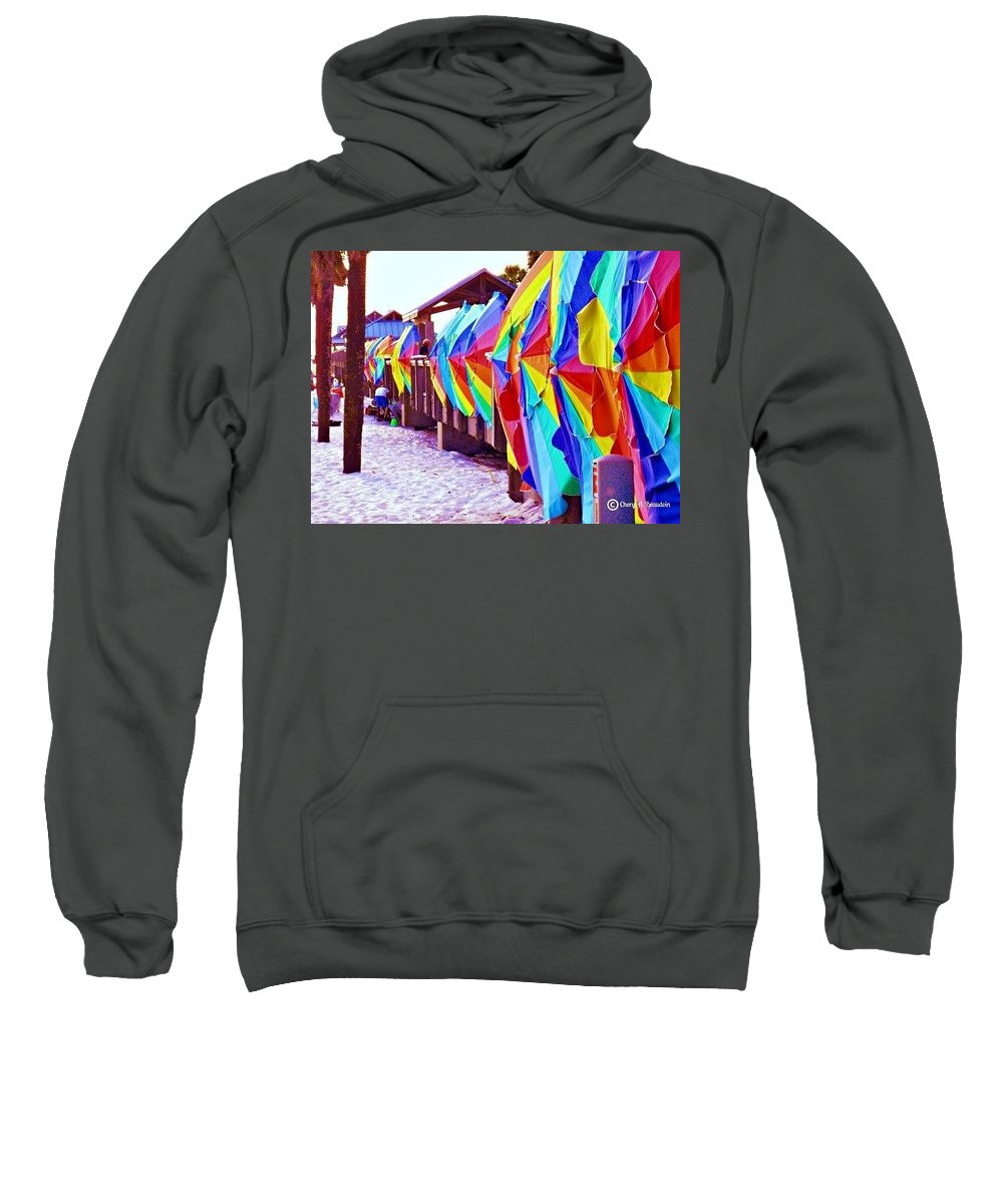 Clearwater Beach Sweatshirt featuring the photograph Clearwater Beach Pier 60 by Cheryl A Beaudoin
