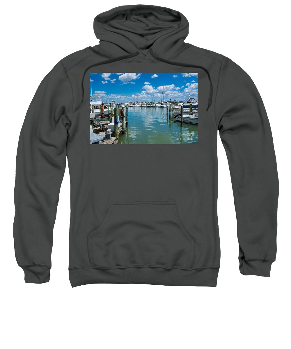 Clearwater Sweatshirt featuring the photograph Clearwater Marina by John Greco