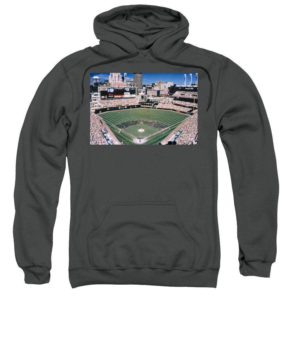 2000 Sweatshirt featuring the photograph Cleveland: Jacobs Field by Granger