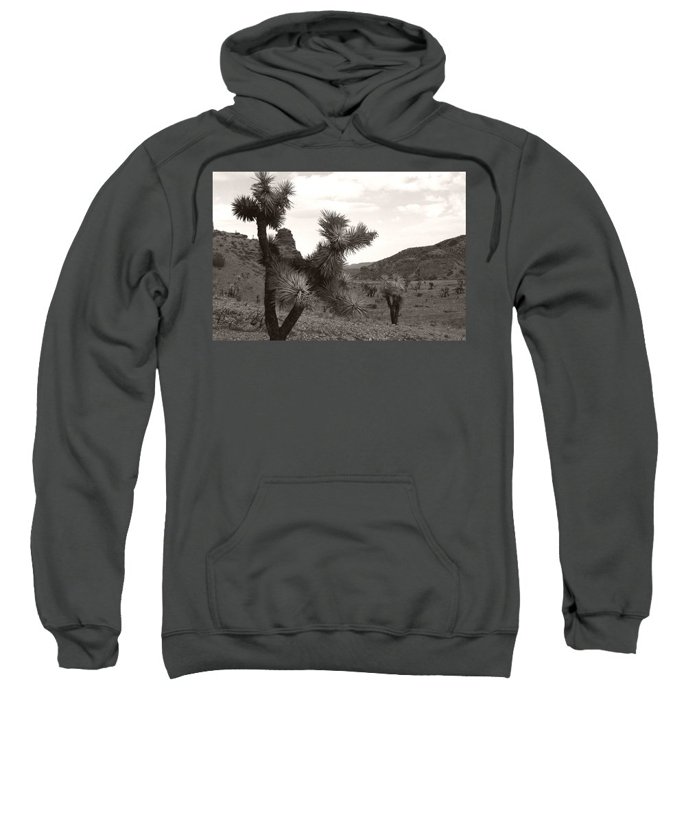 Sweatshirt featuring the photograph Cliff Between Joshua by Heather Kirk
