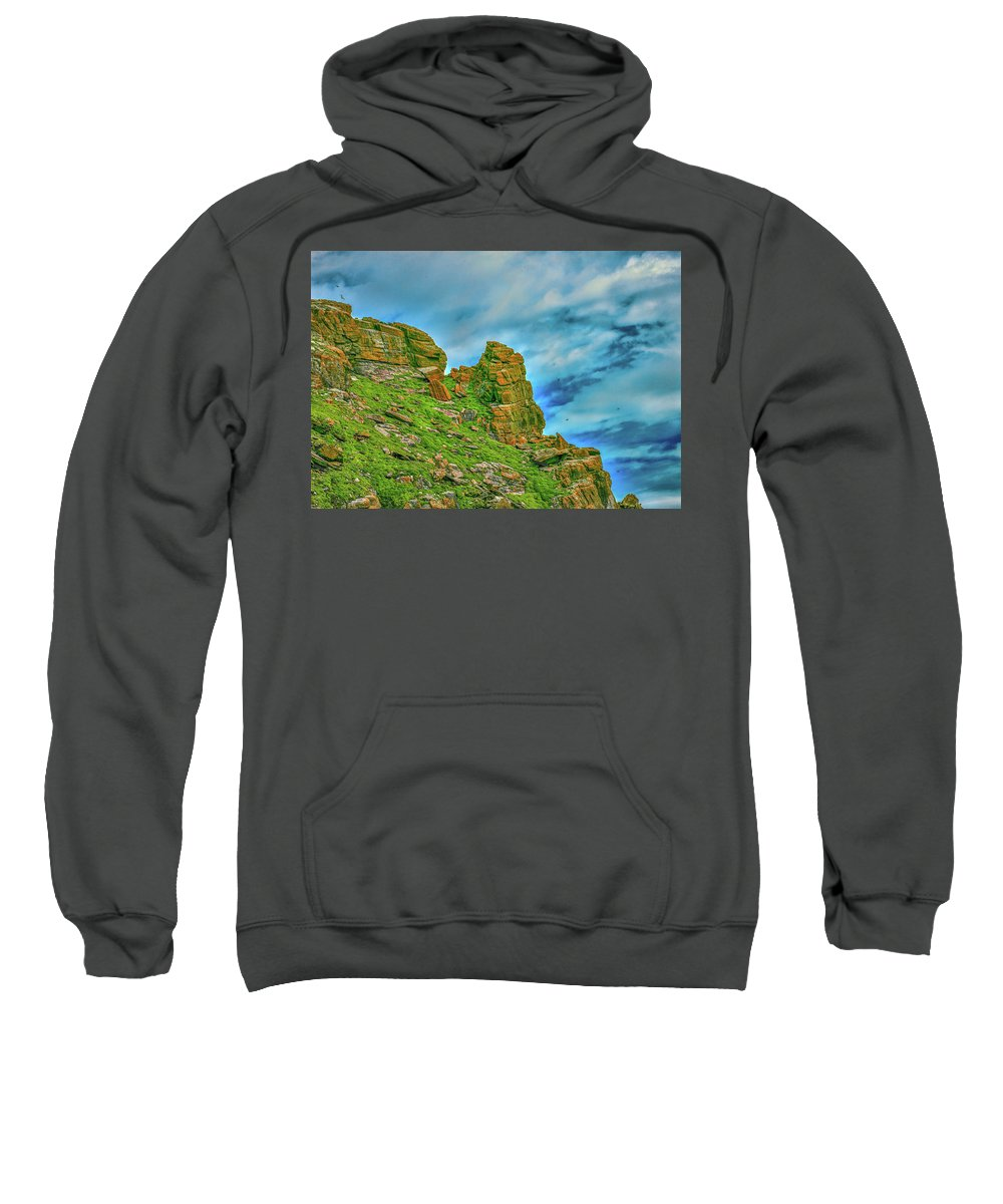 Cliff Sweatshirt featuring the photograph Cliff #h0 by Leif Sohlman
