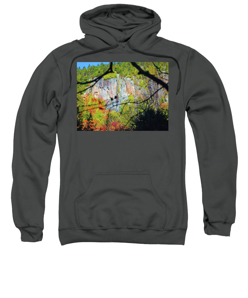 Cliff Sweatshirt featuring the photograph Cliff by Joseph F Safin