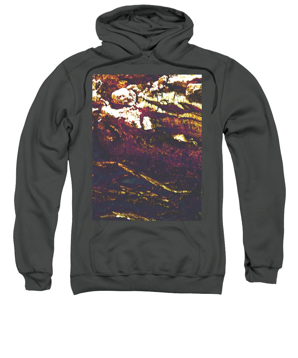 Abstract Sweatshirt featuring the photograph Cliffs And Clouds by Lenore Senior