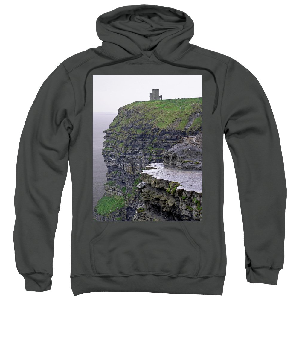 Cliff Sweatshirt featuring the photograph Cliffs Of Moher Ireland by Charles Harden