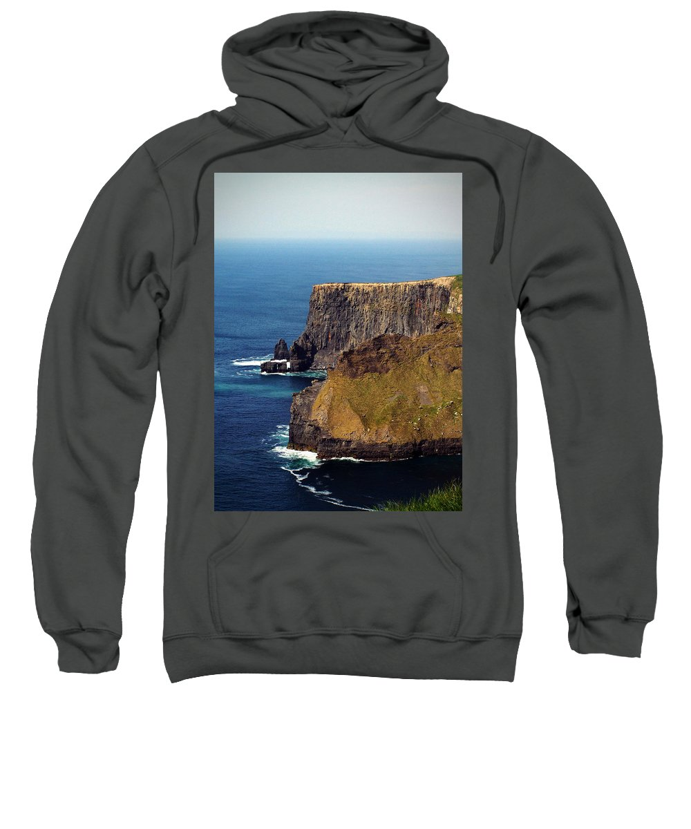 Irish Sweatshirt featuring the photograph Cliffs Of Moher Ireland View Of Aill Na Searrach by Teresa Mucha