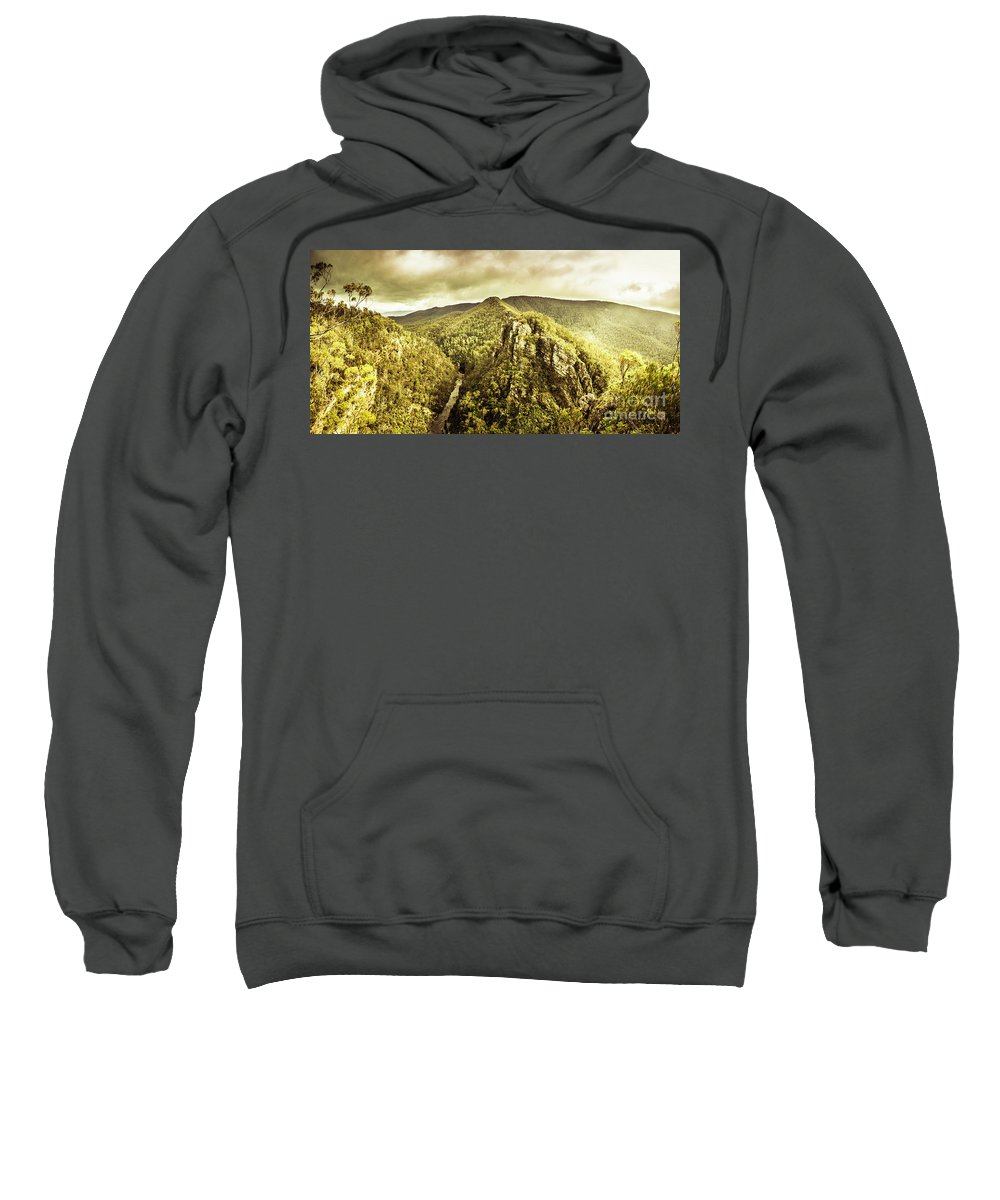 Landscape Sweatshirt featuring the photograph Cliffs, Steams And Valleys by Jorgo Photography - Wall Art Gallery