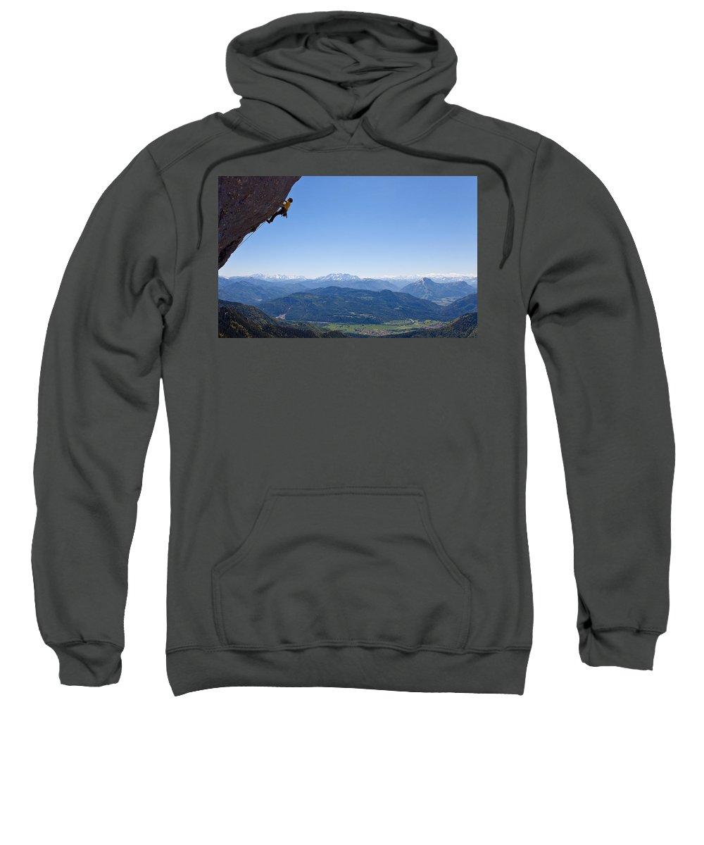 Climbing Sweatshirt featuring the digital art Climbing by Bert Mailer