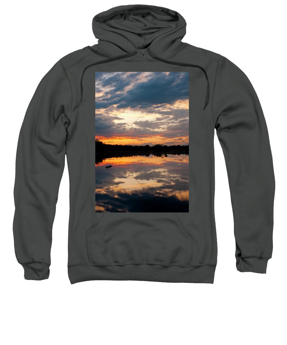 Candia Sweatshirt featuring the photograph Closing Ceremonies by Greg Fortier