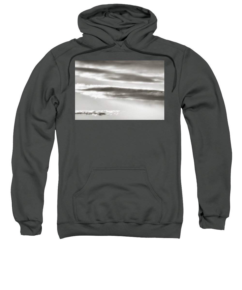 Black And White Sweatshirt featuring the photograph Cloud Cover 2 by Savanah Plank