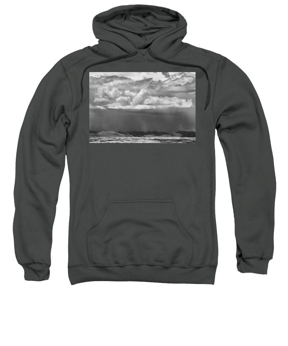 Clouds Sweatshirt featuring the photograph Cloudy Weather by Hitendra SINKAR