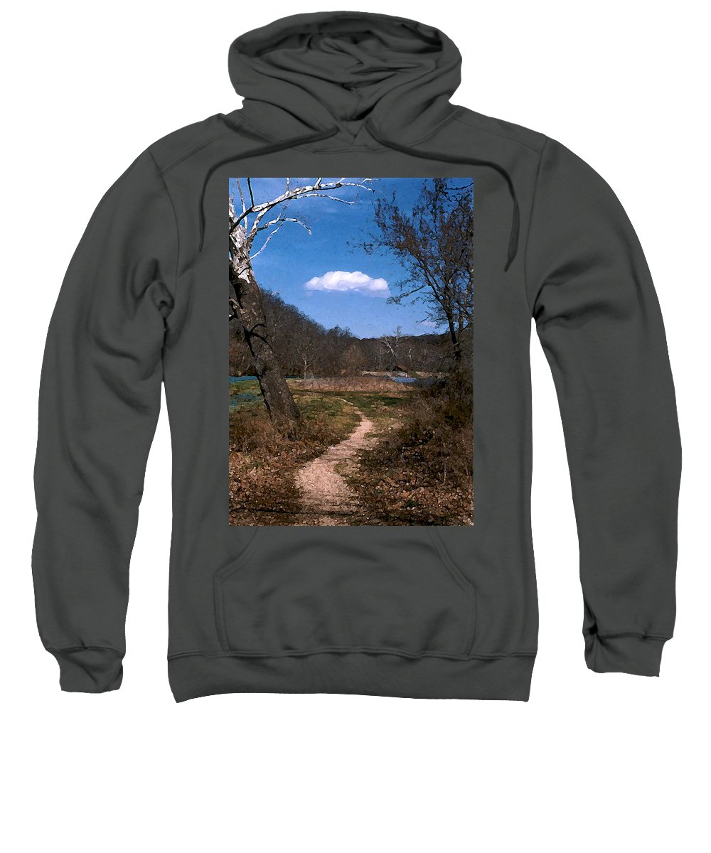 Landscape Sweatshirt featuring the photograph Cloud Destination by Steve Karol