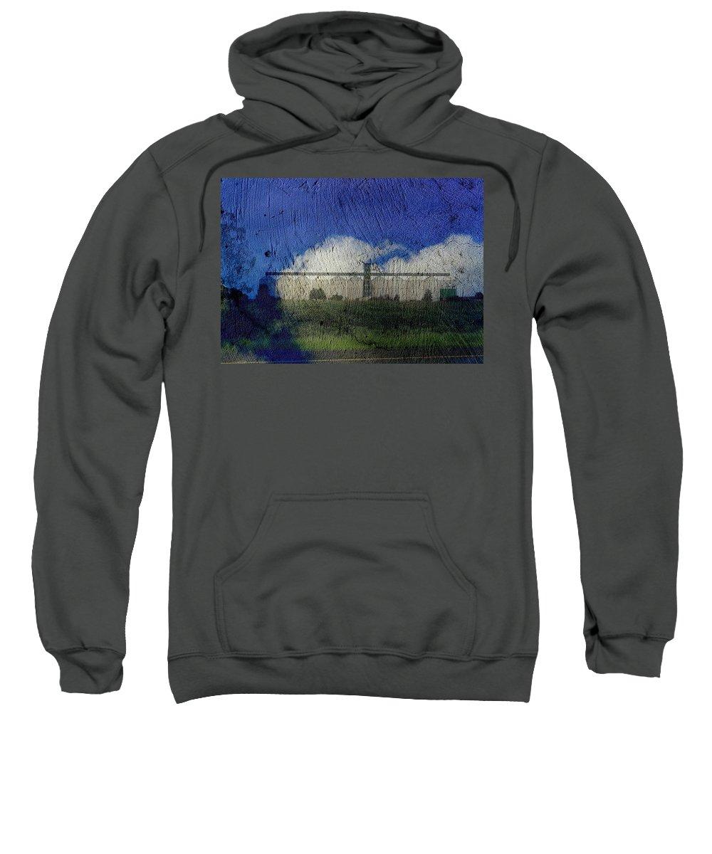 Silo Sweatshirt featuring the digital art Cloud Silo by Derick Burke