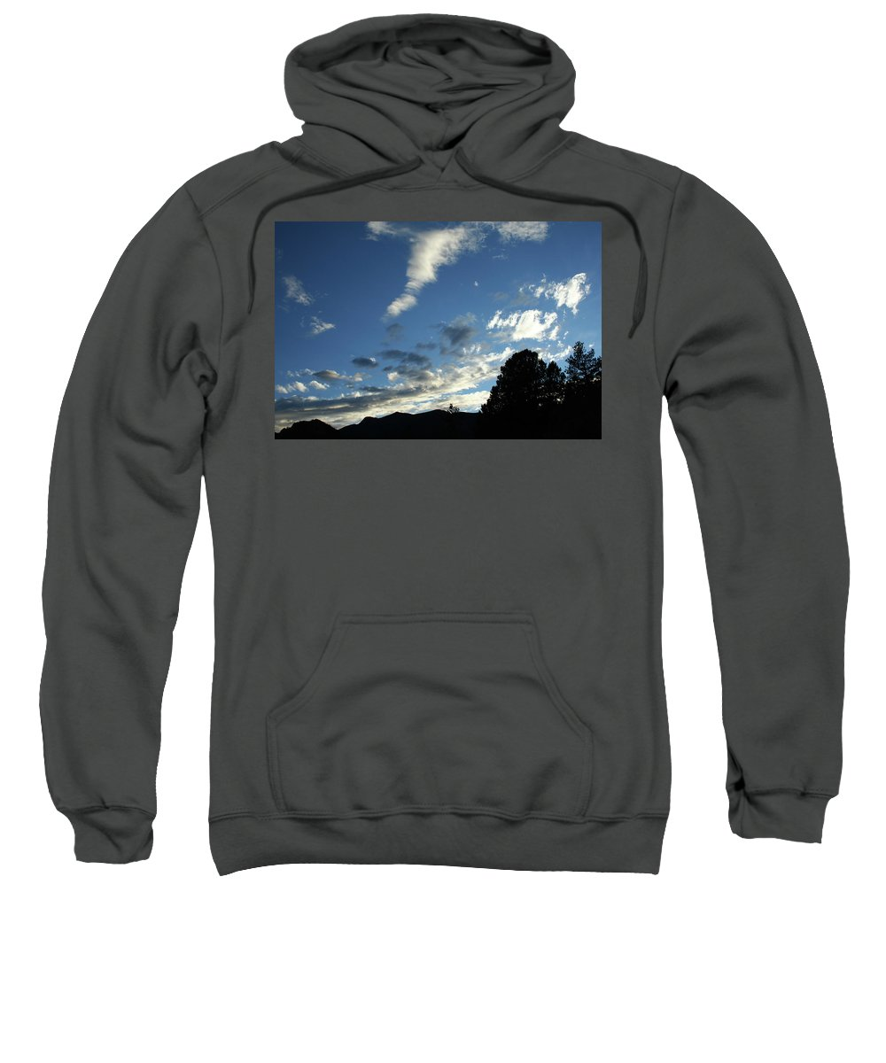 Sky Sweatshirt featuring the photograph Cloud Sweep And Silhouette by Ric Bascobert