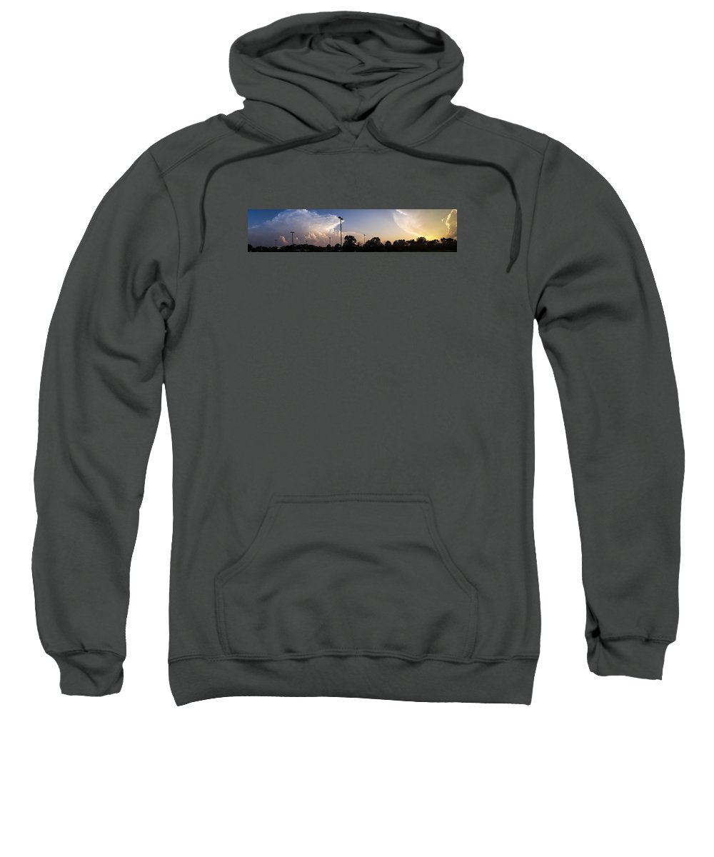 Clouds Sweatshirt featuring the photograph Cloud Wars by Lauri Novak