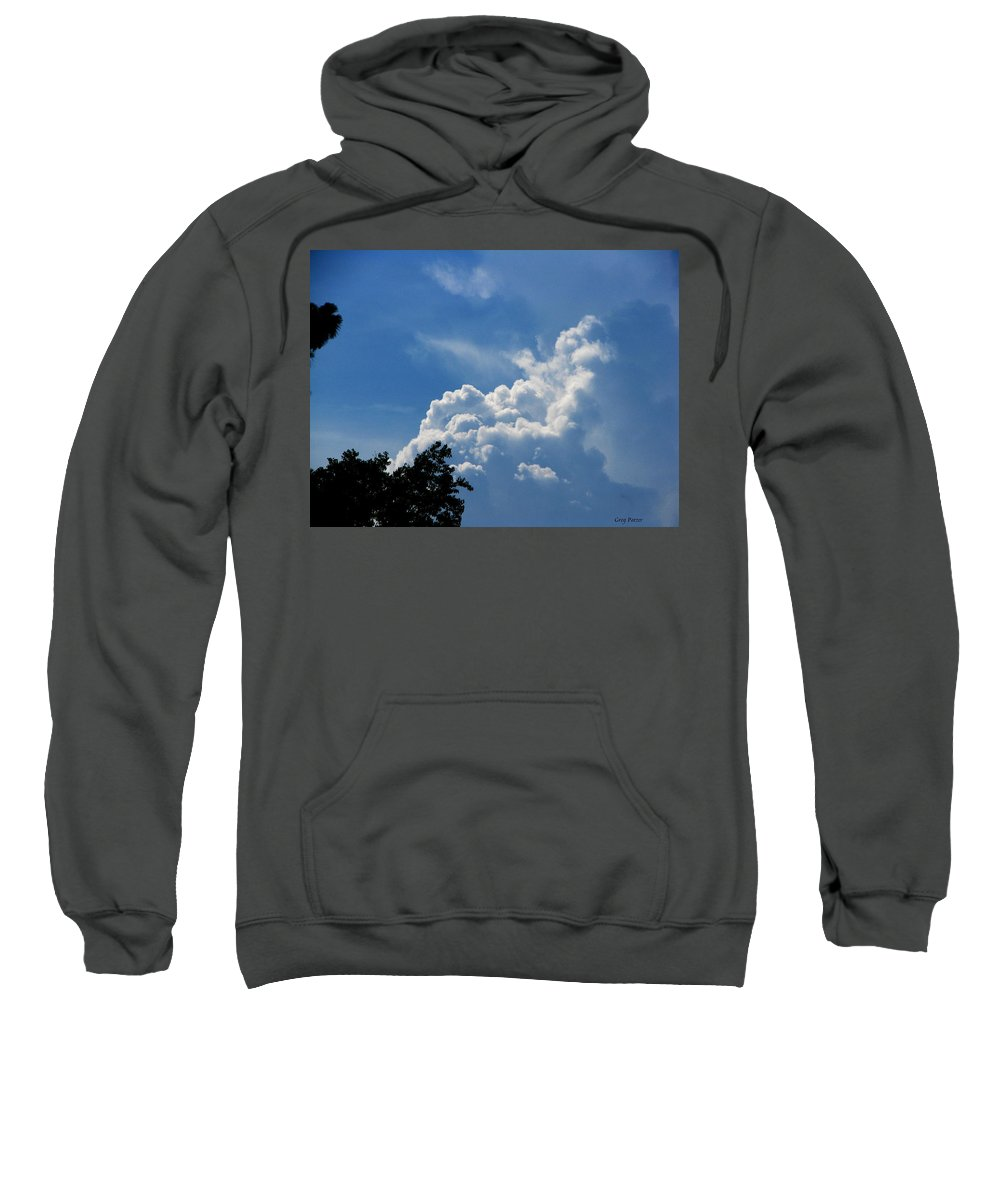Patzer Sweatshirt featuring the photograph Clouds Of Art by Greg Patzer