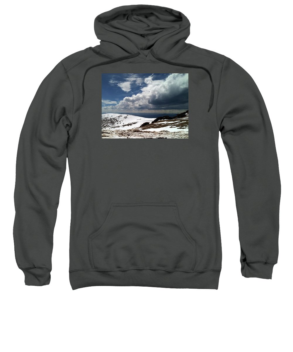 Mountain Sweatshirt featuring the photograph Clouds On The Mountain by Elizabeth Harshman