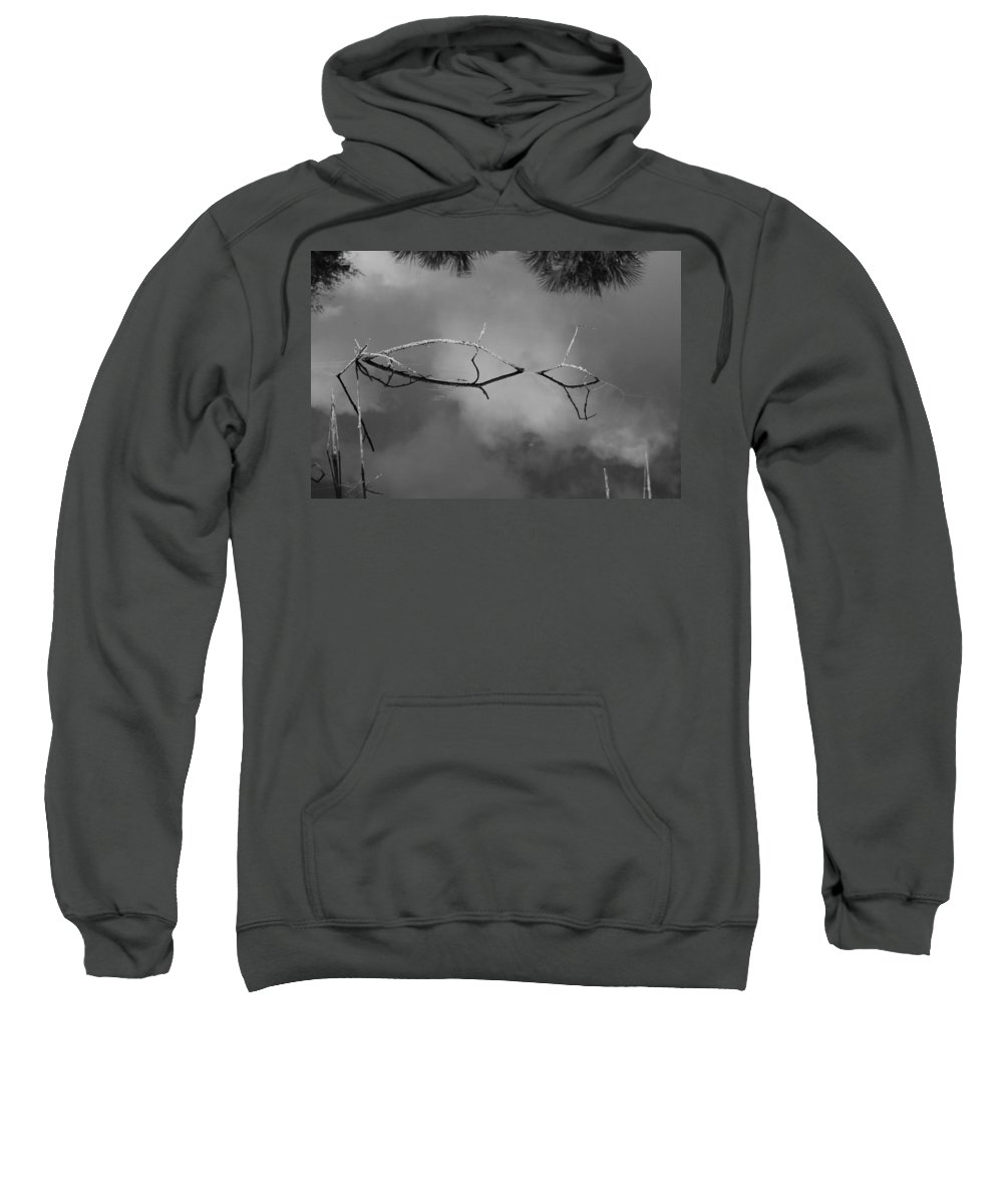 Black And White Sweatshirt featuring the photograph Cloudy Bridge by Rob Hans