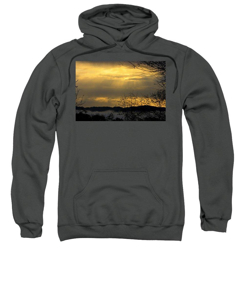 Sunrise Sweatshirt featuring the photograph Cloudy Sunrise 3 by Teresa Mucha