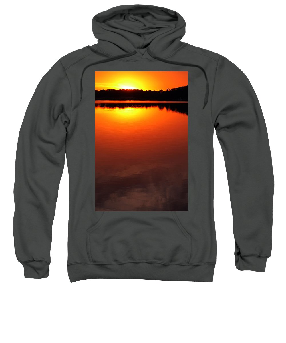 Clay Sweatshirt featuring the photograph Cloudy Sunset by Clayton Bruster