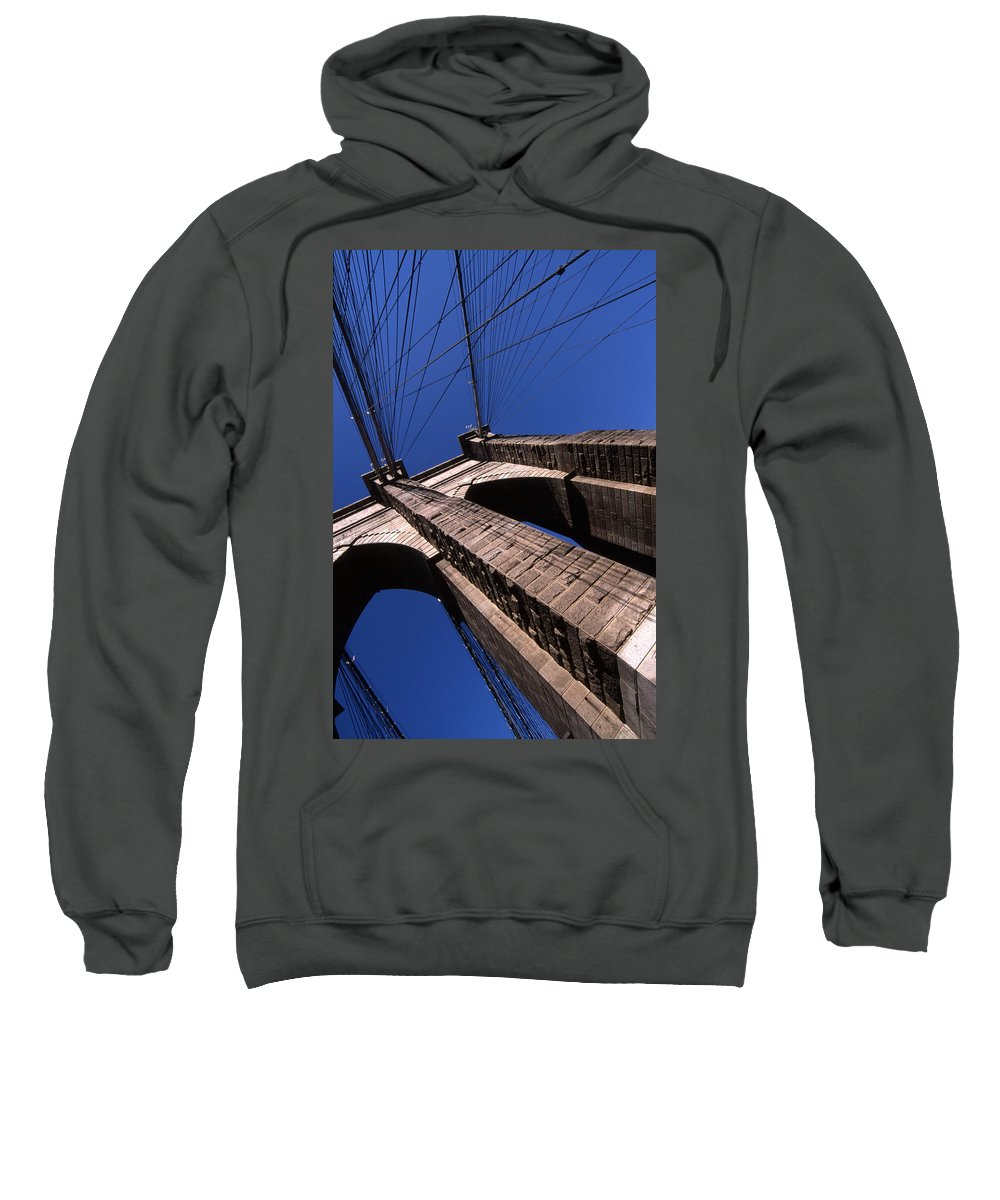Landscape Brooklyn Bridge New York City Sweatshirt featuring the photograph Cnrg0408 by Henry Butz