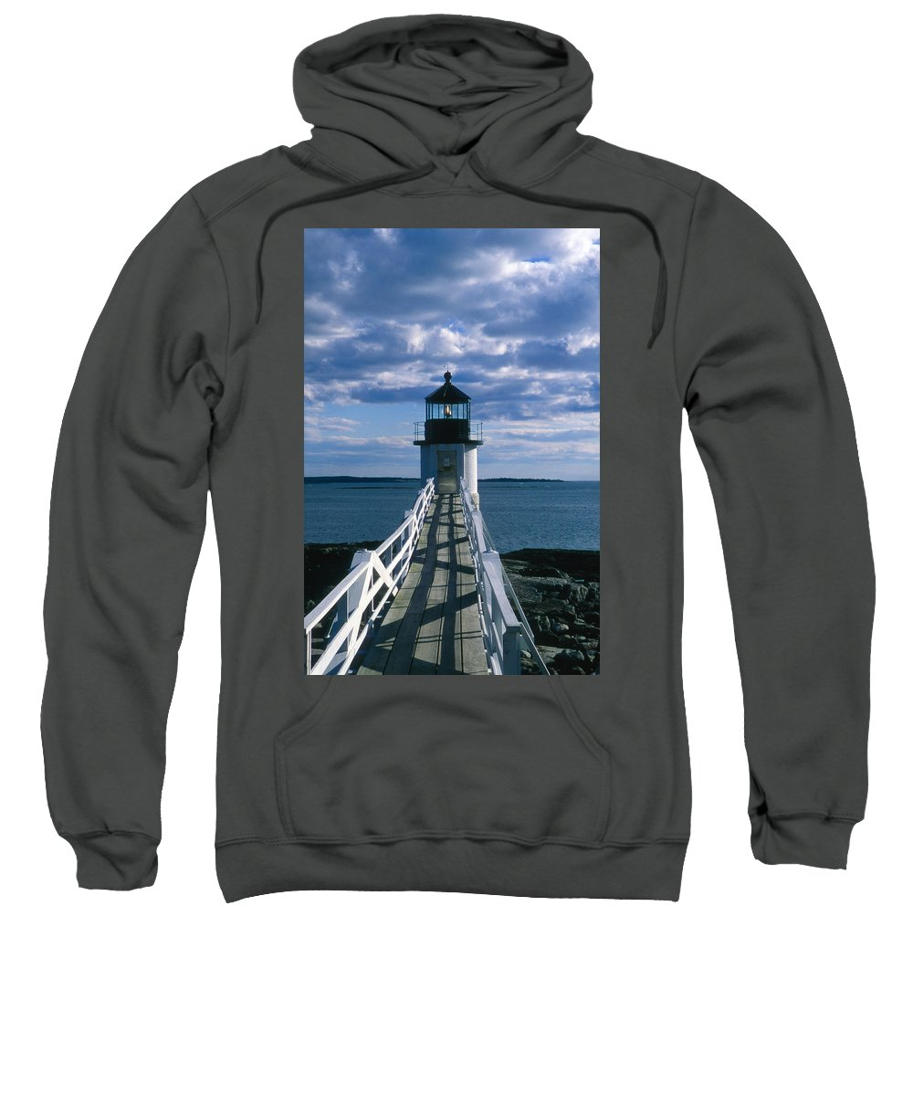 Landscape Lighthouse New England Marshall Point Light Port Clyde Sweatshirt featuring the photograph Cnrh0603 by Henry Butz