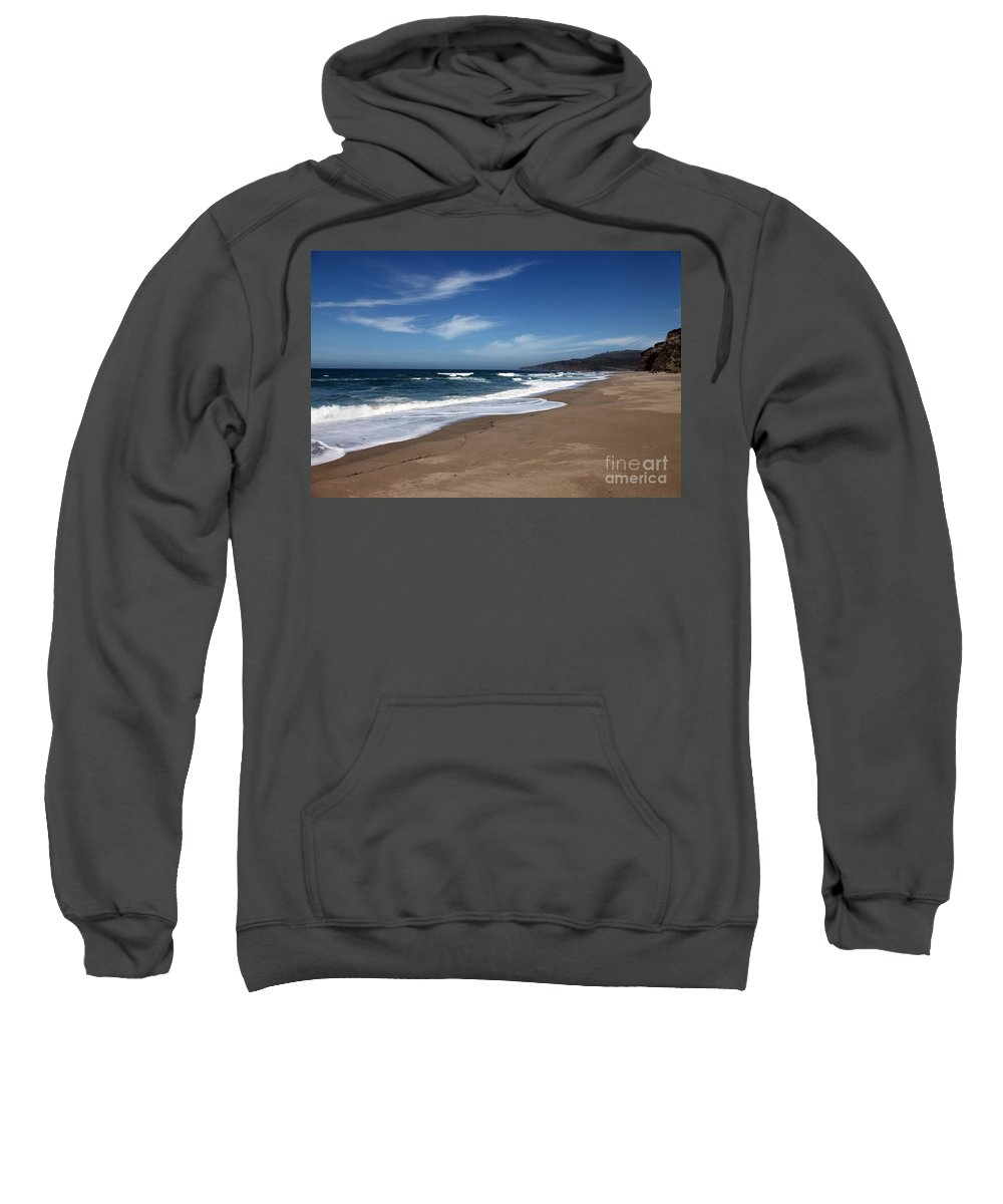 images Of California Sweatshirt featuring the photograph Coast Line by Amanda Barcon
