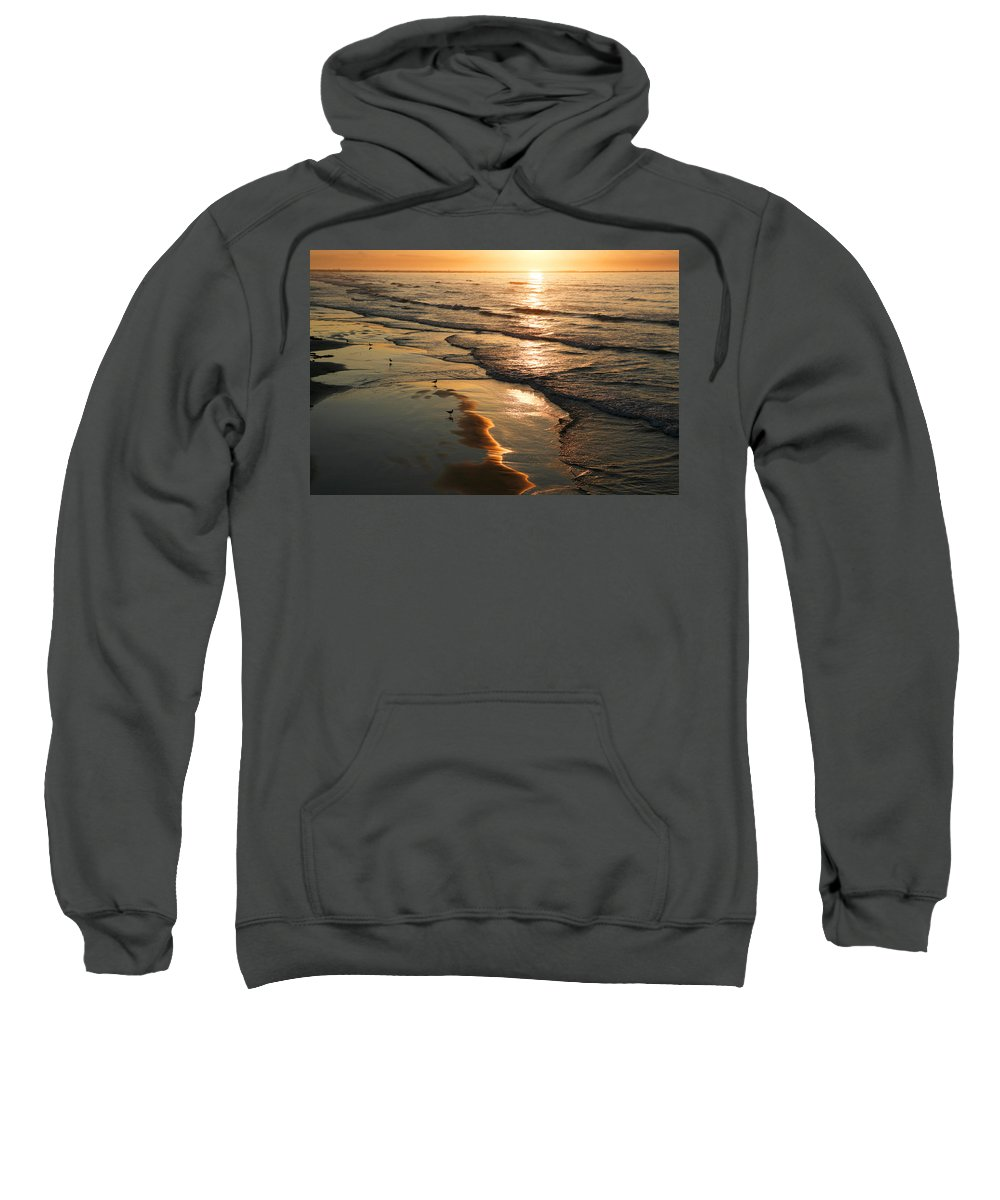 Beach Sweatshirt featuring the photograph Coastal Sunrise by Marilyn Hunt